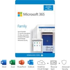Microsoft 365 Family - 12-Month Subscription, up to 6 people, PC/Mac Download