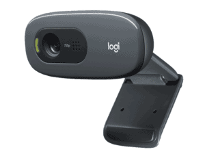 Logitech C270 HD Webcam, 720p Video with Built-in Mic & Lighting Correction - 960-001063