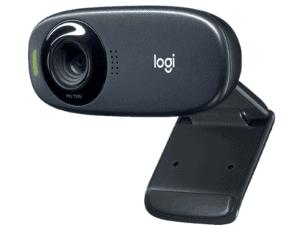 Logitech C310 HD Webcam, 720p Video with Lighting Correction - 960-001065