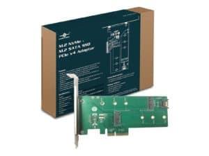 Vantec M.2 NVMe + M.2 SATA SSD PCIe X4 Adapter M.2, - UGT-M2PC200