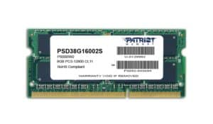 Patriot Signature Line 8GB DDR3 1600MHz SO-DIMM Dual Rank