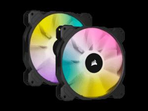 Corsair SP140 RGB Elite 140mm RGB LED Cooling Fan - Dual Pack