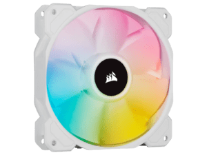 Corsair White SP120 RGB Elite 120mm RGB LED Cooling Fan - Single Pack