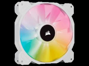 Corsair White SP140 RGB Elite 140mm RGB LED Cooling Fan - Single Pack